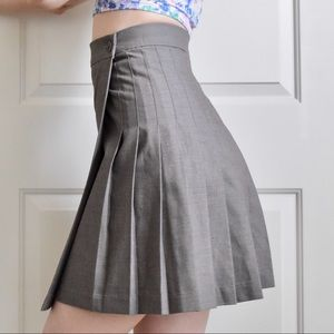 American Apparel Pleated Wrap Skirt High Waist xs